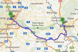 Anreise von Österreich nach Bratislava